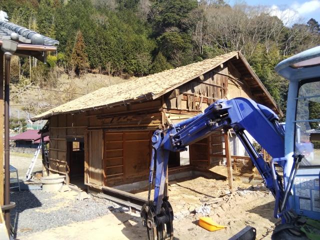 古い家の解体